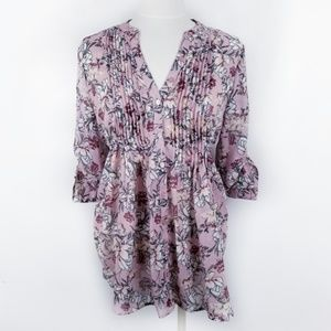 American Rag Large Pink Floral Tunic Top